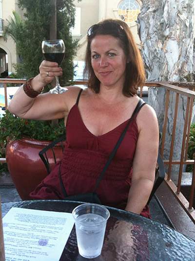 Author and wine lover Dana Fredsti